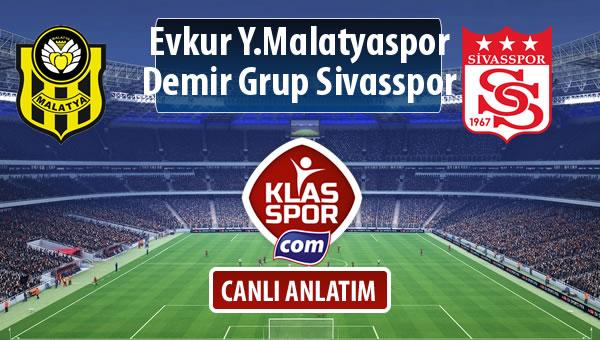 Evkur Y.Malatyaspor - Demir Grup Sivasspor maç kadroları belli oldu...