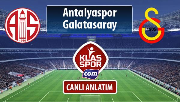 Antalyaspor - Galatasaray sahaya hangi kadro ile çıkıyor?