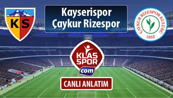 Kayserispor - Çaykur Rizespor maç kadroları belli oldu...
