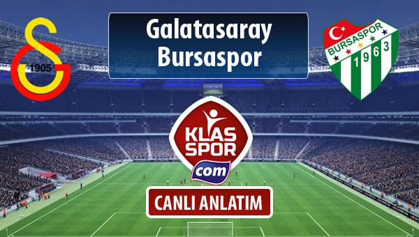 Galatasaray - Bursaspor maç kadroları belli oldu...