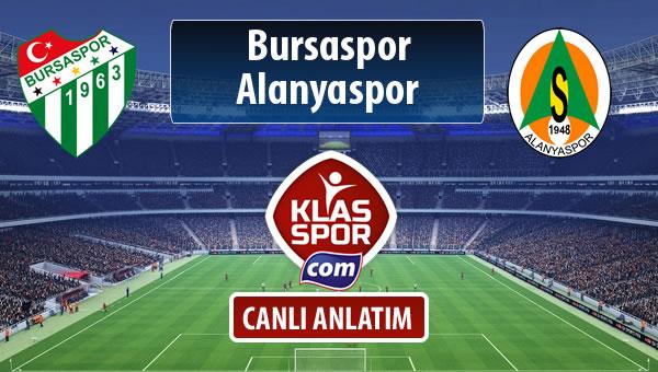 İşte Bursaspor - Alanyaspor maçında ilk 11'ler