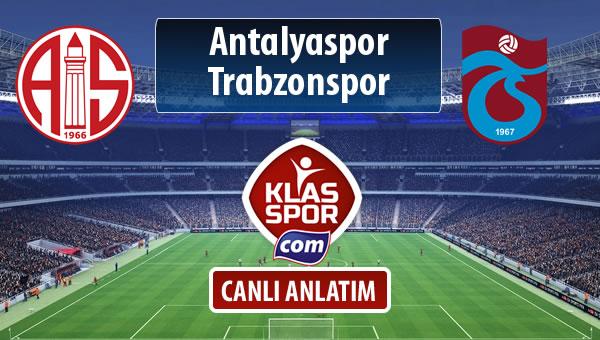 İşte Antalyaspor - Trabzonspor maçında ilk 11'ler