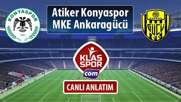 Atiker Konyaspor - MKE Ankaragücü maç kadroları belli oldu...