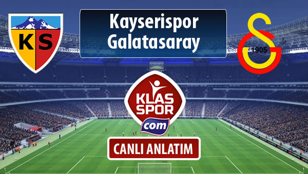 Kayserispor - Galatasaray maç kadroları belli oldu...