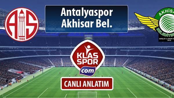 Antalyaspor - Akhisar Bel. maç kadroları belli oldu...