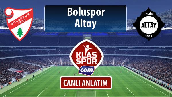 Boluspor - Altay maç kadroları belli oldu...