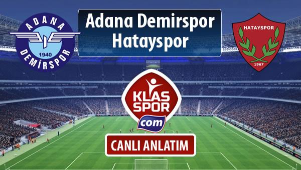 Adana Demirspor - Hatayspor sahaya hangi kadro ile çıkıyor?