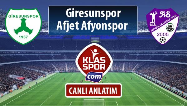 Giresunspor - Afjet Afyonspor  maç kadroları belli oldu...
