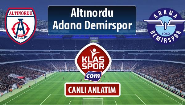 Altınordu - Adana Demirspor maç kadroları belli oldu...