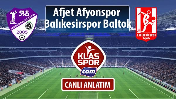 İşte Afjet Afyonspor  - Balıkesirspor Baltok maçında ilk 11'ler