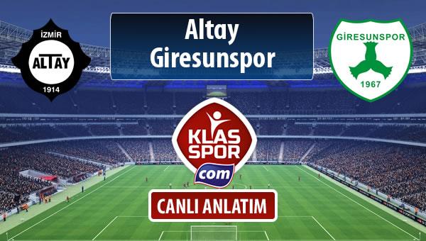 İşte Altay - Giresunspor maçında ilk 11'ler