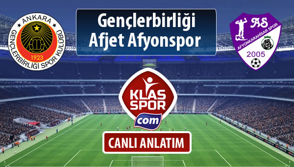 Gençlerbirliği - Afjet Afyonspor  maç kadroları belli oldu...