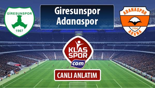 İşte Giresunspor - Adanaspor maçında ilk 11'ler