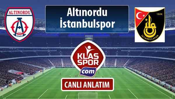 İşte Altınordu - İstanbulspor maçında ilk 11'ler