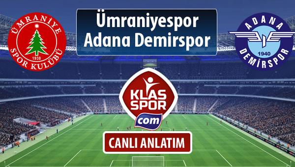 Ümraniyespor - Adana Demirspor maç kadroları belli oldu...