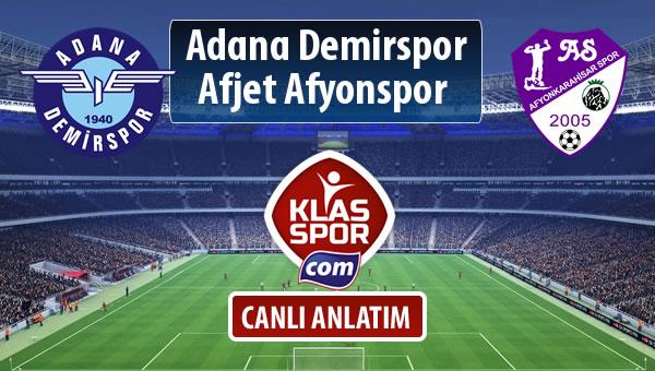Adana Demirspor - Afjet Afyonspor  maç kadroları belli oldu...