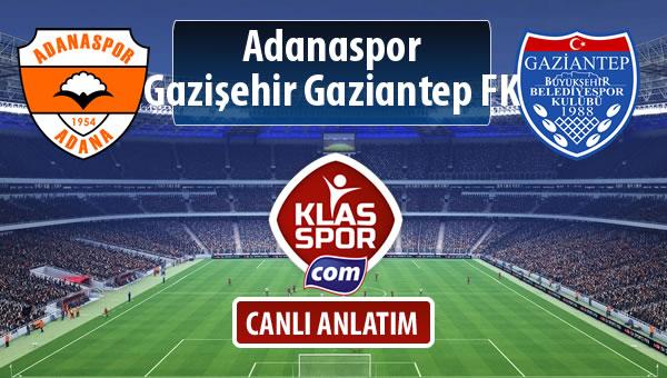 Adanaspor - Gazişehir Gaziantep FK maç kadroları belli oldu...