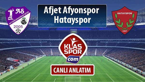 Afjet Afyonspor  - Hatayspor sahaya hangi kadro ile çıkıyor?