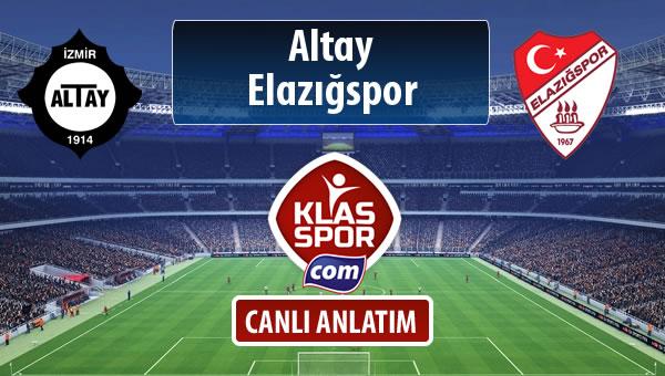 Altay - Elazığspor maç kadroları belli oldu...