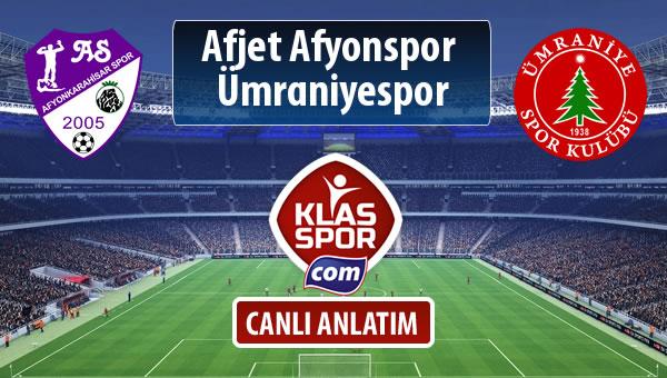 Afjet Afyonspor  - Ümraniyespor sahaya hangi kadro ile çıkıyor?