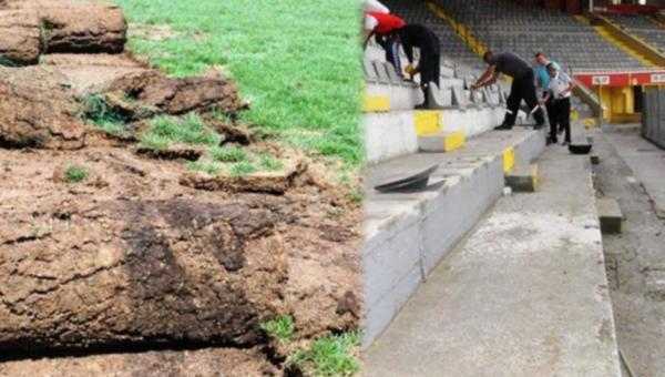 19 Mayıs Stadyumunda yıkım başladı..