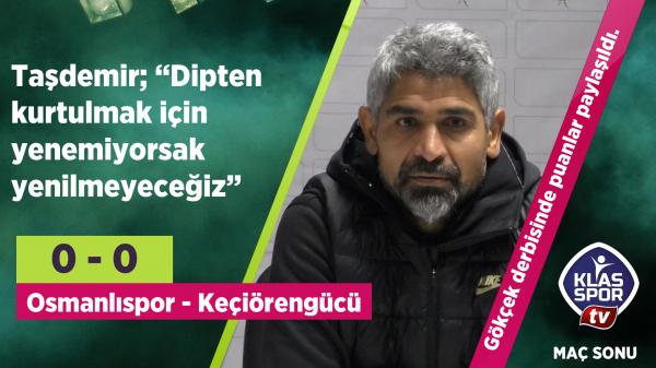 Gökçek derbisi sonrası Osmanlıspor'dan açıklama