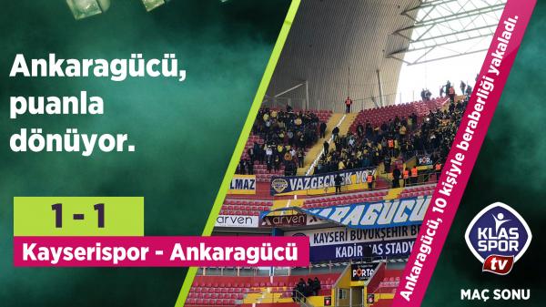 Kayserispor 1 - 1 Ankaragücü