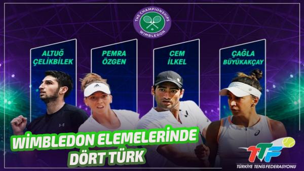 Wimbledon Elemelerinde Dört Türk