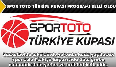 Spor Toto Türkiye Kupası programı belli oldu...