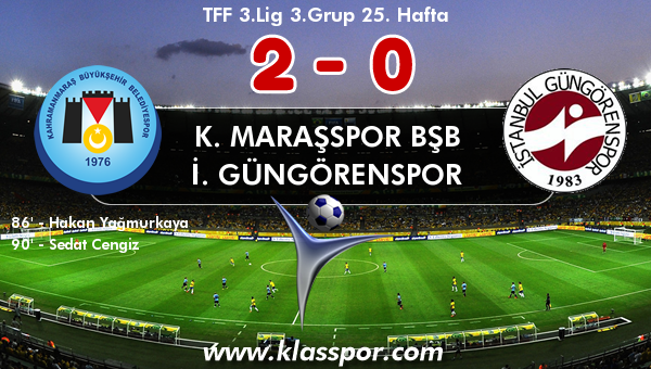 K. Maraşspor BŞB 2 - İ. Güngörenspor 0