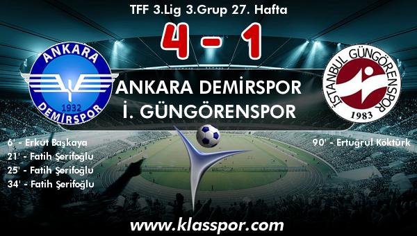 Ankara Demirspor 4 - İ. Güngörenspor 1