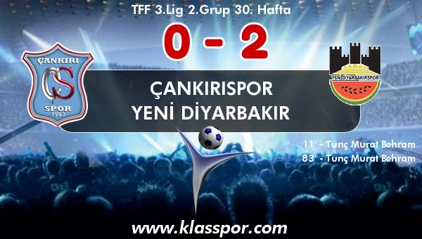 Çankırıspor 0 - Yeni Diyarbakır 2