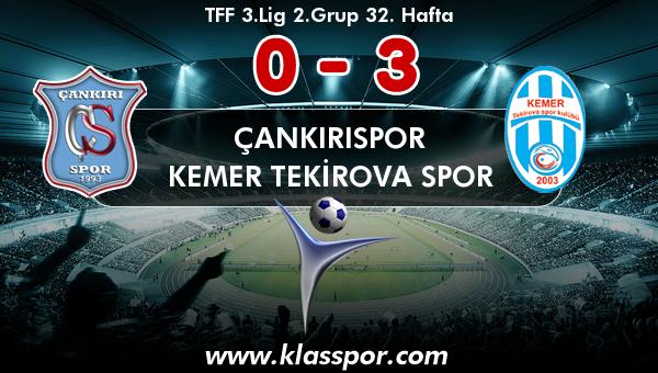 Çankırıspor 0 - Kemer Tekirova Spor 3
