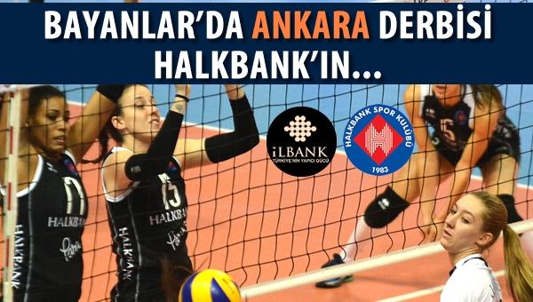 Voleybol'da Ankara Derbisi Halkbank'ın...