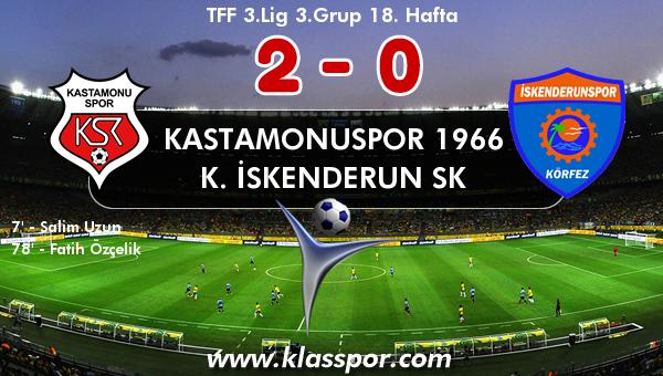 Kastamonuspor 1966 2 - K. İskenderun SK 0