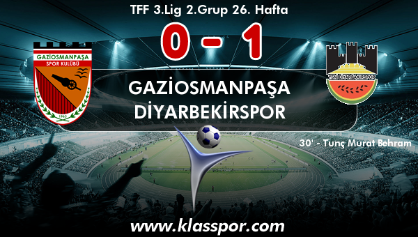 Gaziosmanpaşa 0 - Diyarbekirspor 1