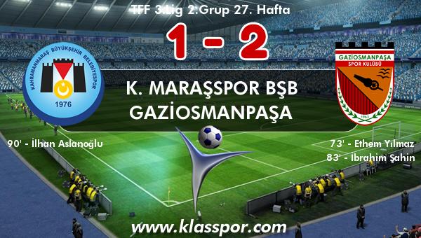 K. Maraşspor BŞB 1 - Gaziosmanpaşa 2