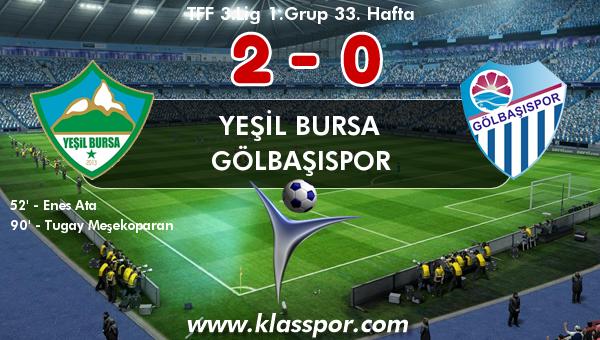 Yeşil Bursa 2 - Gölbaşıspor 0