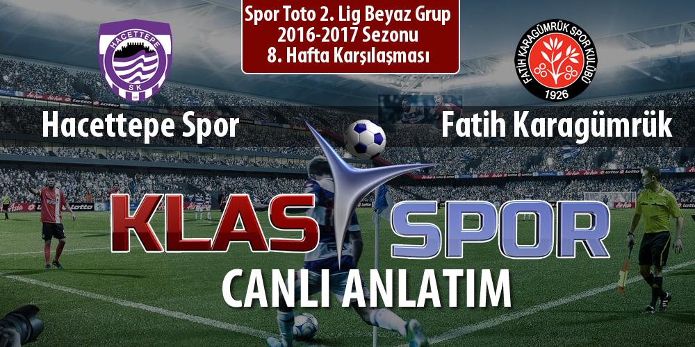 İşte Hacettepe Spor - Fatih Karagümrük maçında ilk 11'ler