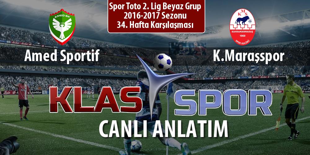 İşte Amed Sportif - K.Maraşspor maçında ilk 11'ler
