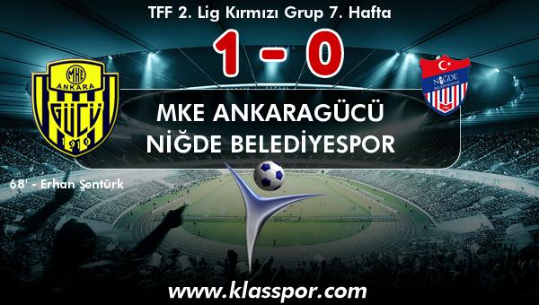 MKE Ankaragücü 1 - Niğde Belediyespor 0