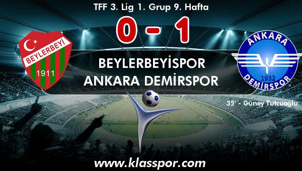 Beylerbeyispor 0 - Ankara Demirspor 1