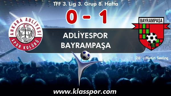 Adliyespor 0 - Bayrampaşa 1