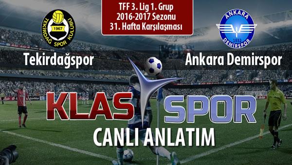 Tekirdağspor - Ankara Demirspor maç kadroları belli oldu...