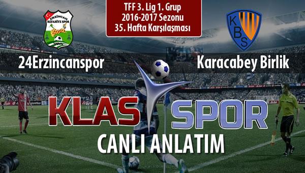 İşte Anagold 24Erzincanspor - Karacabey Birlik  maçında ilk 11'ler