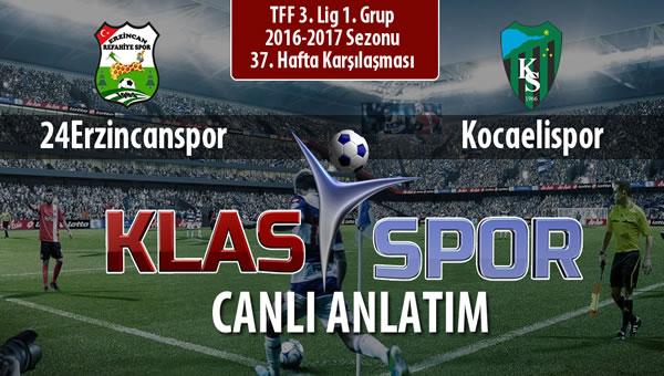 Anagold 24Erzincanspor - Kocaelispor maç kadroları belli oldu...