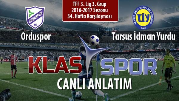 İşte Orduspor - Tarsus İdman Yurdu maçında ilk 11'ler