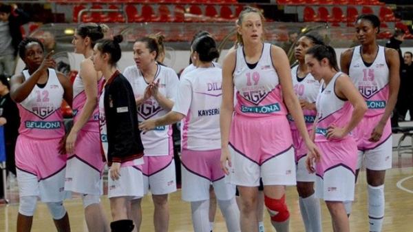 Bellona AGÜ Spor-Mersin Büyükşehir Belediye: 74-64