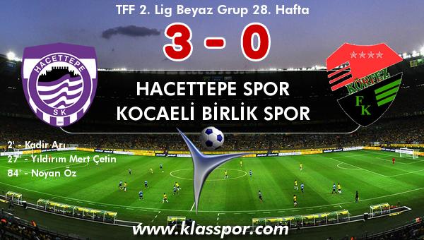Hacettepe Spor 3 - Kocaeli Birlik Spor 0