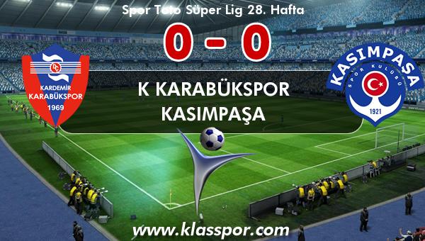 K Karabükspor 0 - Kasımpaşa 0